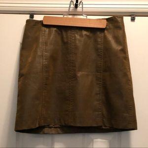 Free People leather skirt